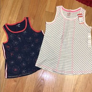 Cat and Jack. 2 Girls tanks. Size 10/12 Large